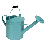 Aqua Enamel Watering Can Vase Centerpiece