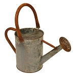 Distressed Gray Zinc Watering Can Vase/Centerpiece