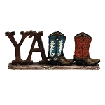 Y'ALL Mini Cowboy Boots Vase & Sign
