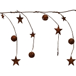 5-Foot Rusty Bells & Barnstars Garland