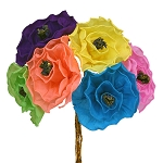 Hand-Made Paper Ruffled Flower (1) - 6-inch