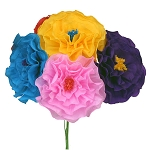 Hand-Made Paper Ruffled Flower (1) - 7-inch