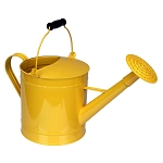 Yellow Sunshine Enamel Watering Can Vase Centerpiece