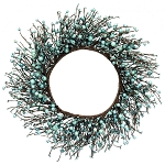 Aqua Mixed Berries Wreath - 19 inch