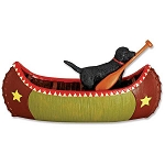 Resin Canoe with Black Labrador Retriever Magnet