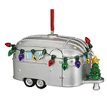 Light-up Vintage Airstream Camper Christmas Ornament