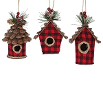 Buffalo Plaid Birdhouse Christmas Ornament - 3 styles