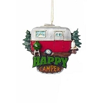 Happy Camper Retro Travel Trailer Ornament