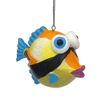 Whimsical Tropical Fish Coastal Christmas Ornament - 4 styles