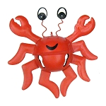 Red Crab Jingle Bells Coastal Christmas Ornament
