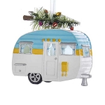 Light-Up Retro Camper Trailer Christmas Tree Ornament - 2 colors