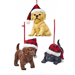 Labrador Retriever Puppy Lodge Christmas Ornament - 3 styles