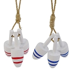Mini Striped Lobster Buoys Hanging Cluster - 2 colors