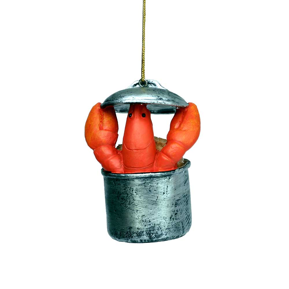 Lobster-in-Pot Coastal Christmas Tree Ornament