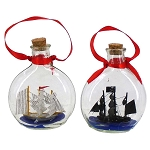 Ship In A Bottle Coastal Christmas Tree Ornament - 2 styles