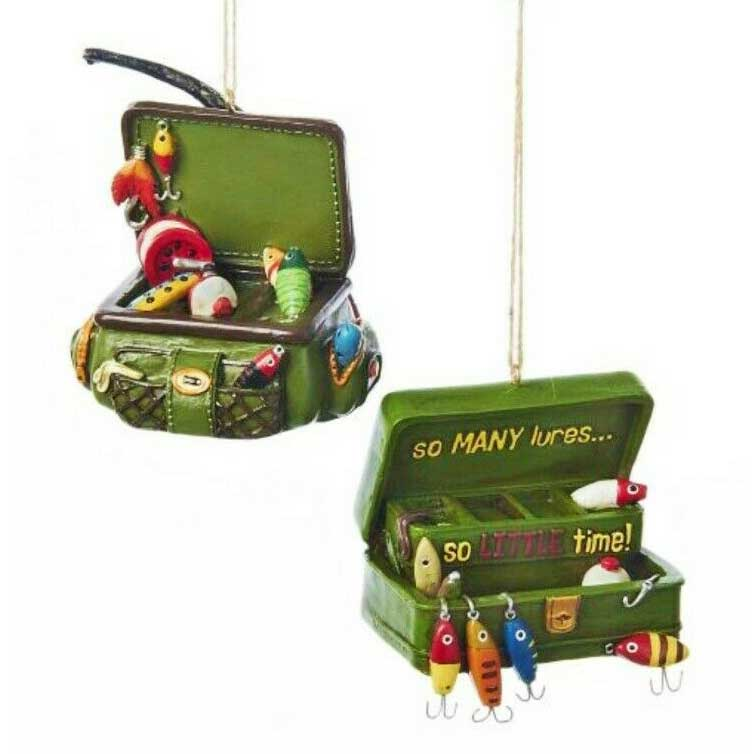 Fishing Tackle Box Lake & Lodge Hanging Decoration - 2 styles