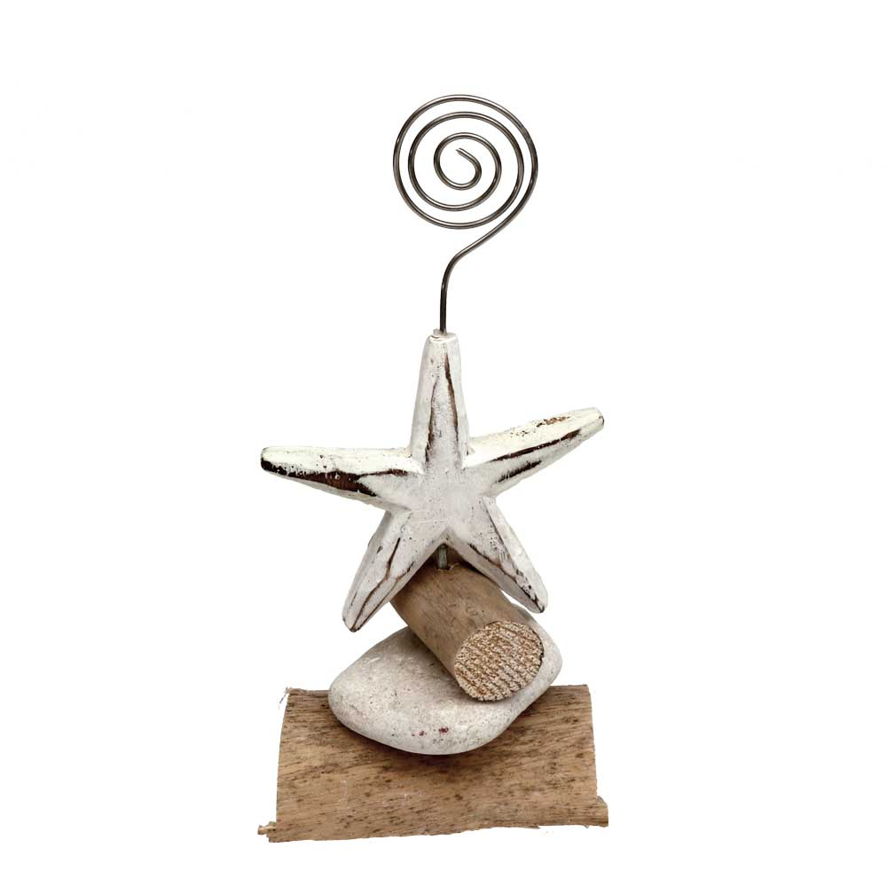Carved Wood Starfish Photo/Card Holder
