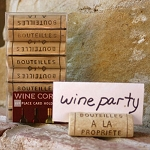 Resin Wine Cork Place Card Holders (4)