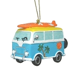 Surfer VW Beach Bus Coastal Hanging Ornament