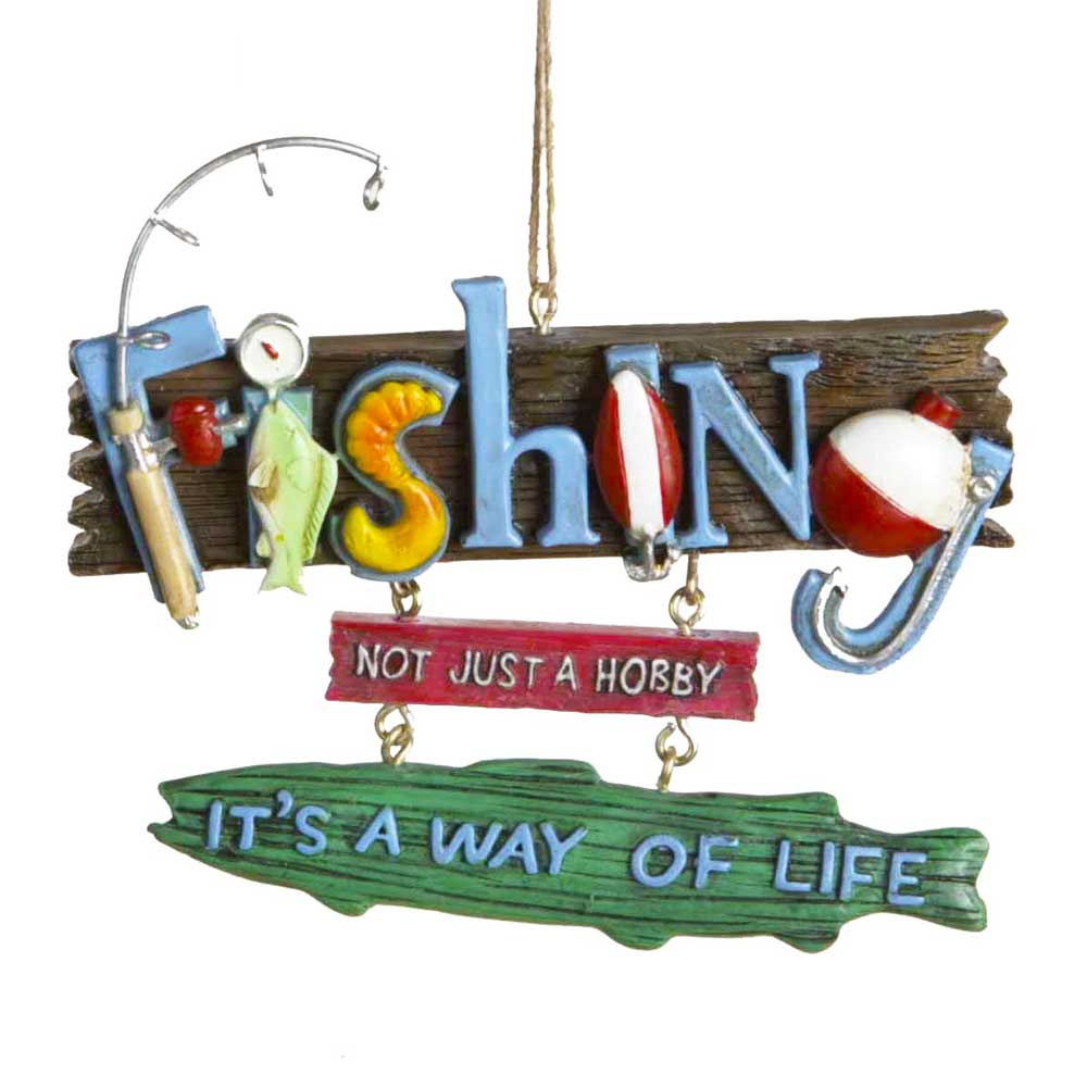 FISHING Way of Life Lake & Lodge Mini Hanging Sign