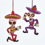 Day of the Dead Mariachi Musician Dancing Ornament (1) - 2 styles