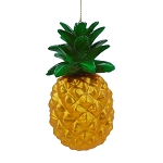Metallic Gold Pineapple Tropical Hanging Ornament