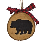 Mountain Lodge Wood Slice Hanging Ornament - 2 styles