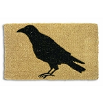 Coconut Fiber Black Crow Welcome Mat
