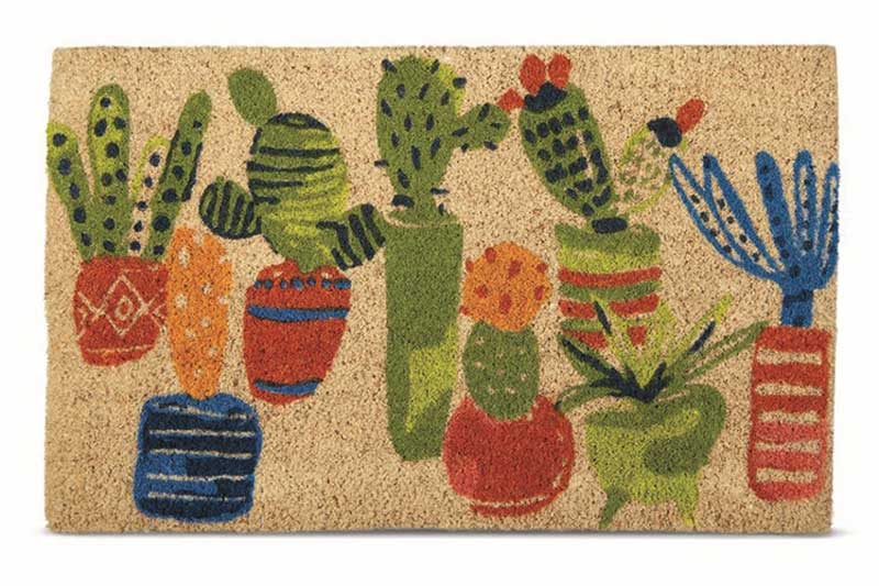 Coconut Fiber Cactus Fun Welcome Mat