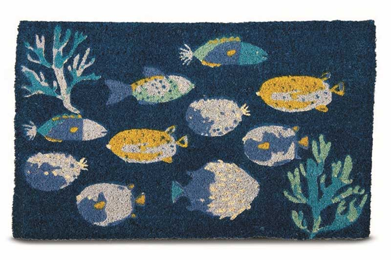 Coconut Fiber Under the Sea Welcome Mat