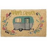 Coconut Fiber Happy Camper Welcome Mat