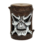 Bamboo-Style Tiki God Skull Battery-Powered Strobe Light & Post (1)