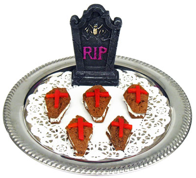 Halloween Food -- Coffin Canapes