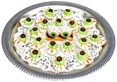 Halloween Food -- Green Eyed Monster Eyeballs