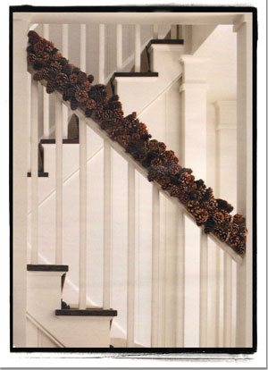 Martha Stewart Holiday Decorating Pine Cone Garland