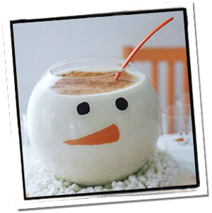 Snowman Eggnog Holiday Drinks