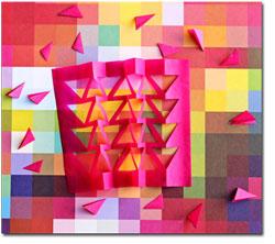Geometric Paper Garland Tissue Cuts
