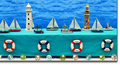 Combine Lighthouses With Ships, Sailboats And Other Nautical Decor To  Create Seafaring Scenes U0026 Vignettes. Build An Active Harbor Scene As A  Raised Backdrop ...