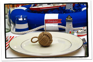 Nautical Banquet Place Setting