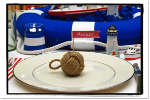Nautical Banquet Wedding Setting