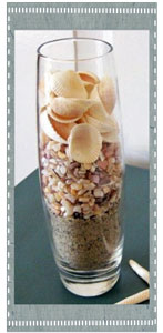 Sand and Shell Layered Vase
