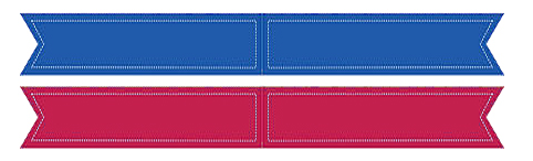 Nautical Ribbon Flag Name Tag Template