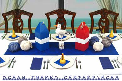 Ocean Themed Centerpieces