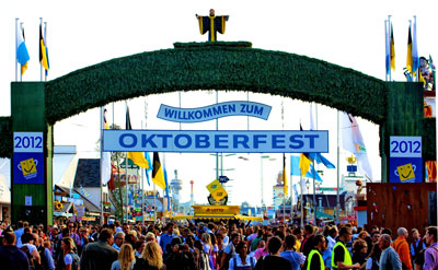 Oktoberfest Germany Entrance Sign