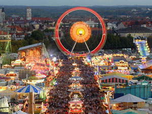 Oktoberfest Munich Germany Night