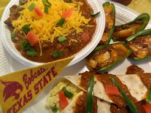Texas State Tailgating Food