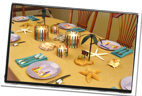 Walk On the Beach Table Centerpiece