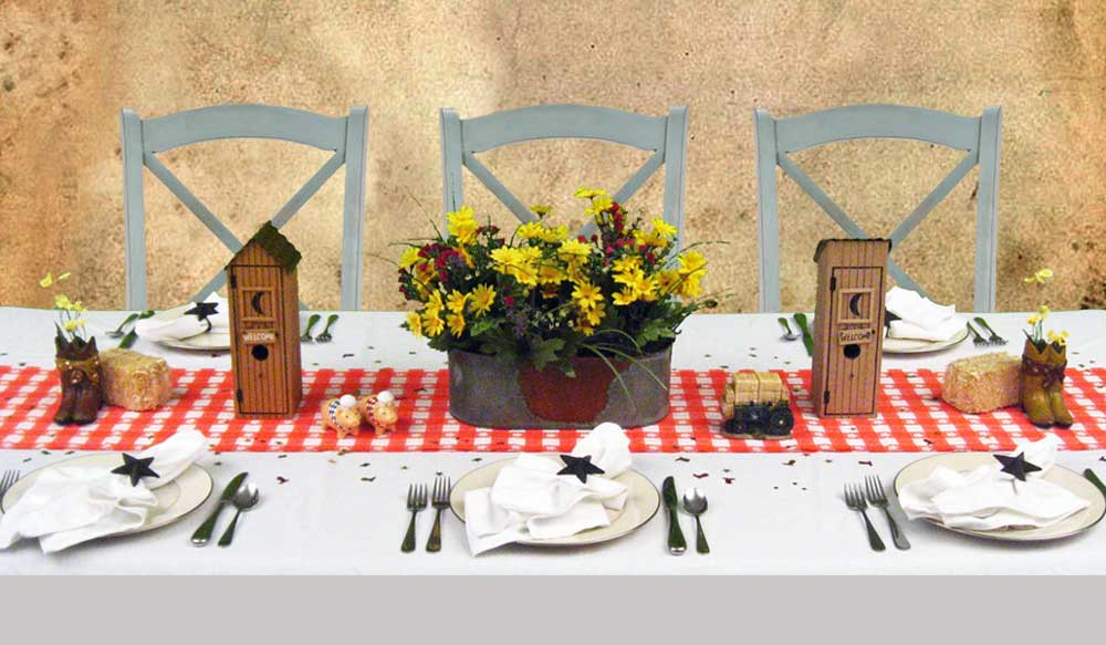 Country Western Dinner Party Decorating