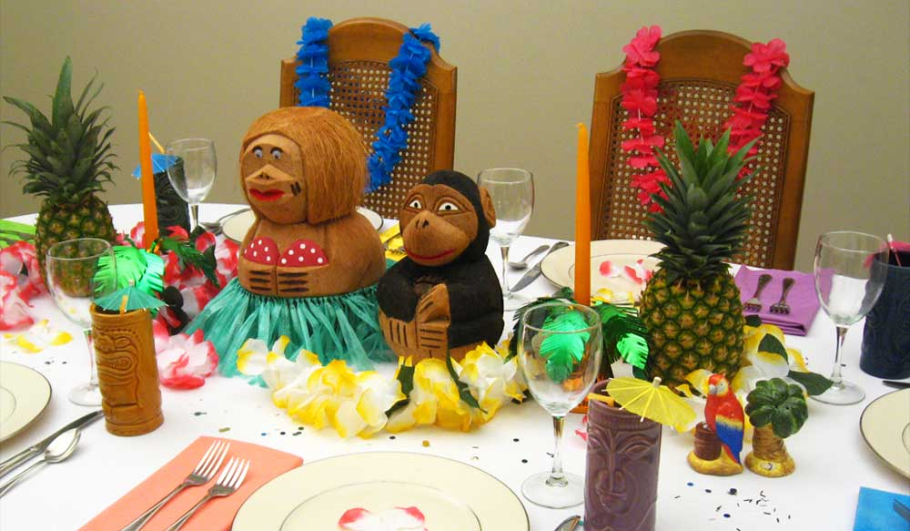 Hawaiian Luau Dinner Party