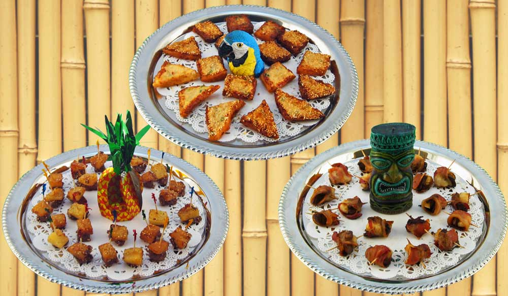 Hawaiian Luau Tiki Party Hors d'oeuvre Recipes